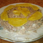 Творожно-сметанный торт с апельсином