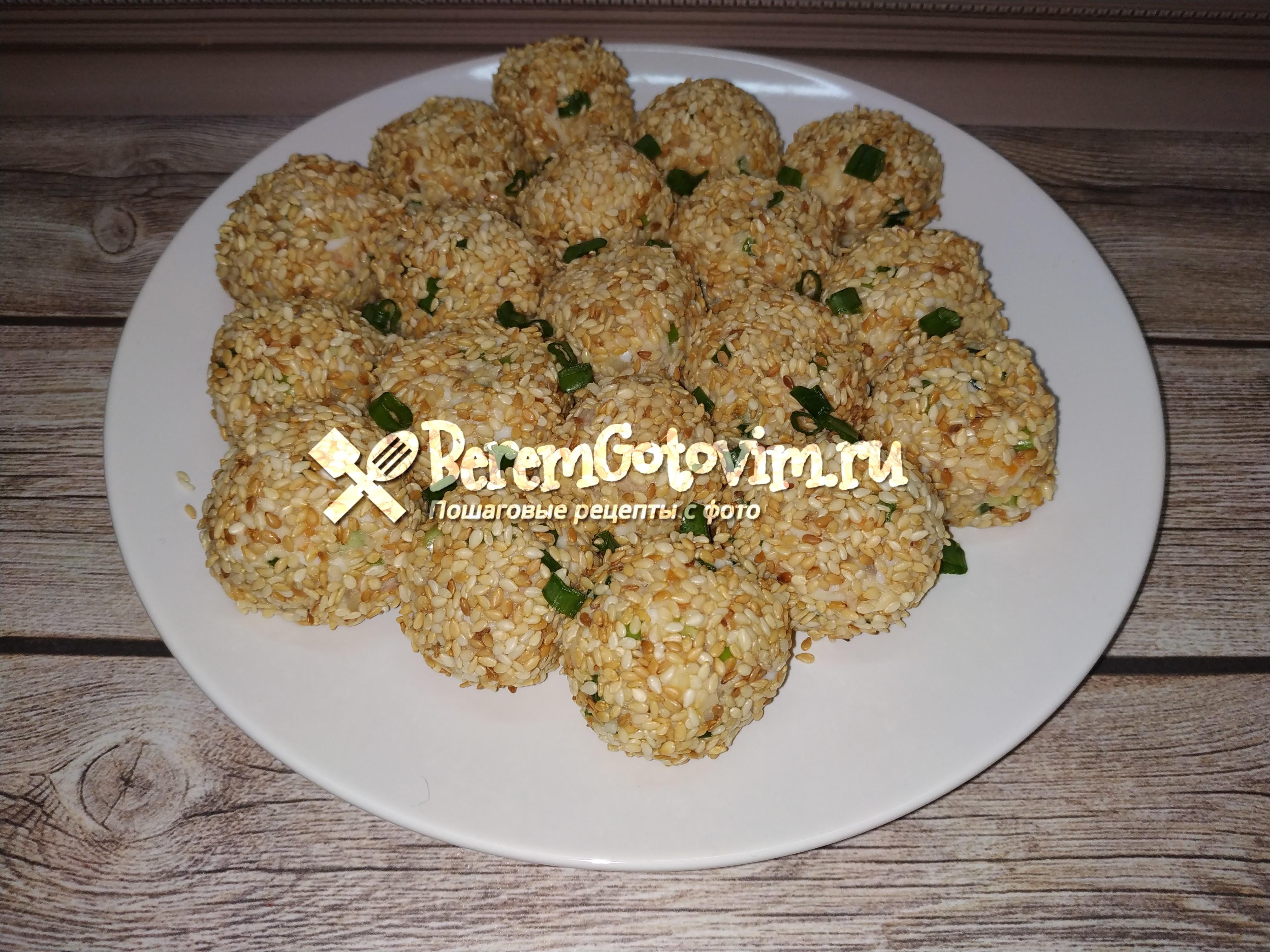 Салатные шарики «А-ля мимоза»
