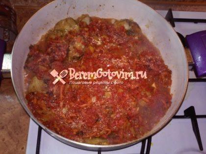 добавляем томат с зажаркой