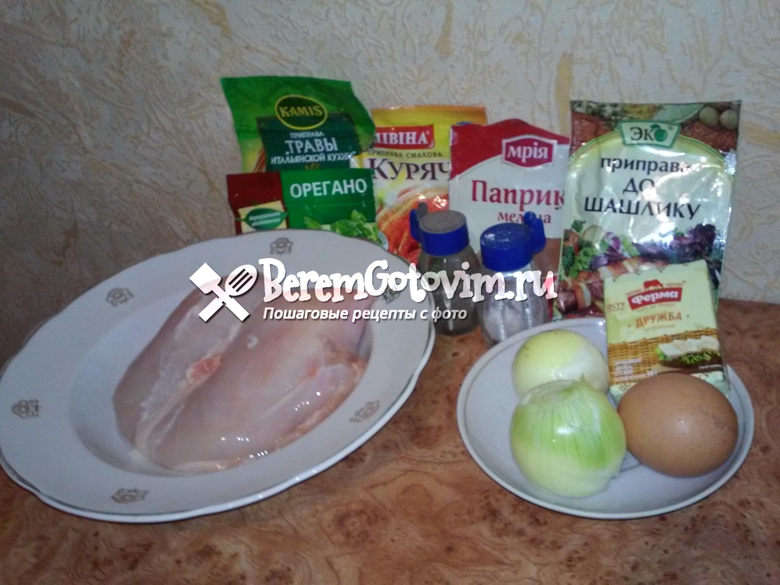 ингредиенты-для-рубленных-куриных-котлет-с-сыром.