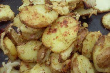 Маринованная картошка на костре