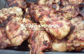 Шашлык из курицы с луком