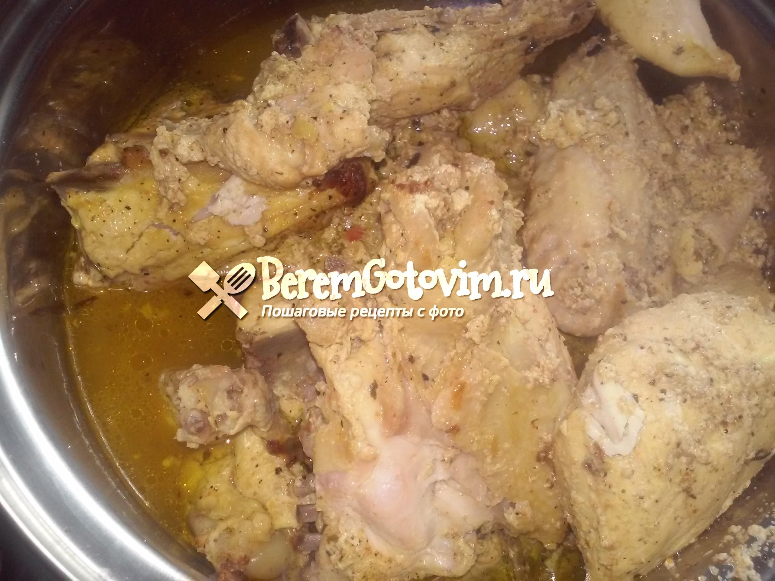 Запеченная курица в кефире