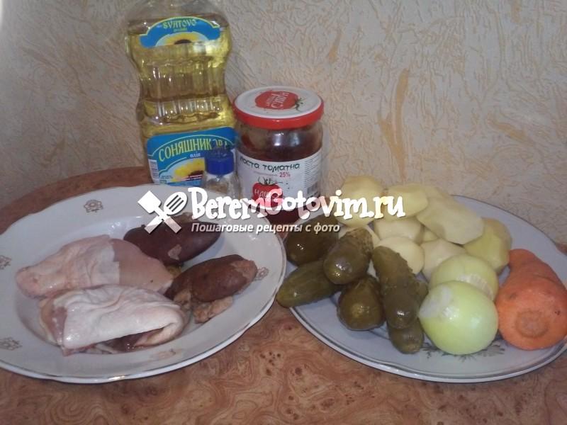 ингредиенты-для-рассольника-со свиными почками