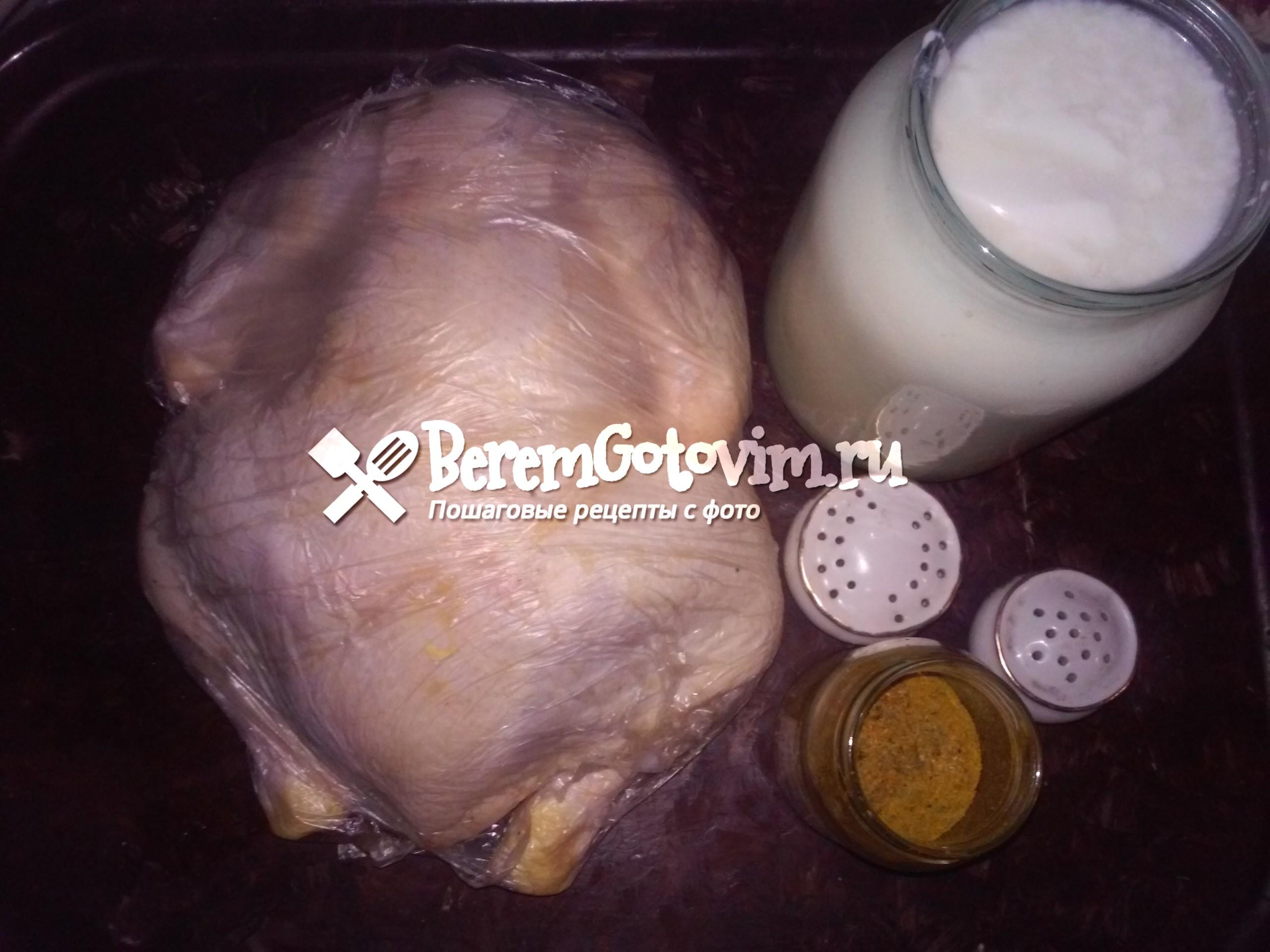 ингредиенты-для-запеченной-курицы-в-кефире