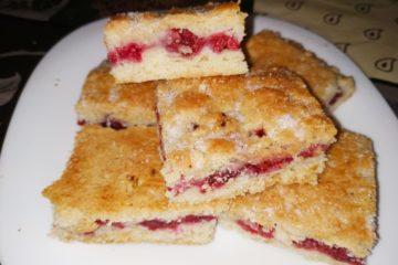 Малиновое печенье с помадкой