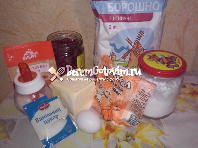 ингредиенты-для-малинового-печеньа-c-помадкой