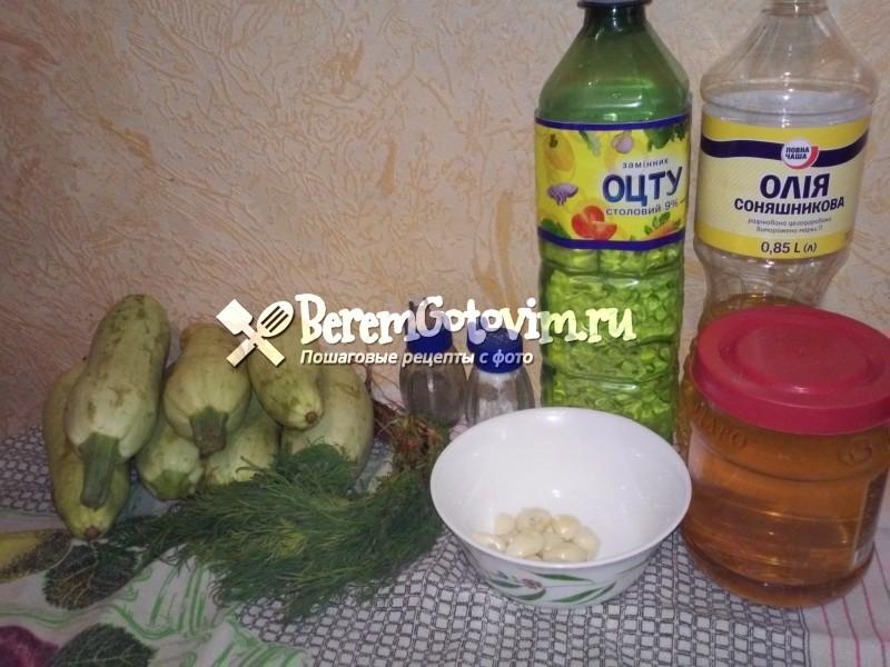 ингредиентs-длz-кабачков-в-медовом-маринаде