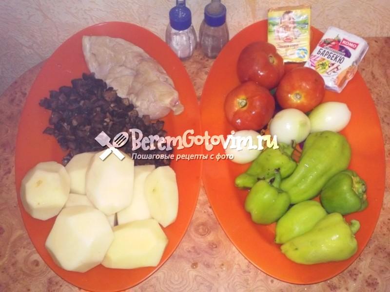 ингредиенты-для-картофельной-запеканки-с-курицей-и-грибами