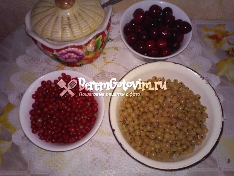 ингредиенты-для-вишневого-компота-со-смородиной