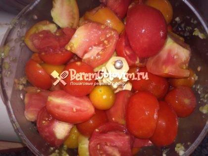 помидоры-измельчаем