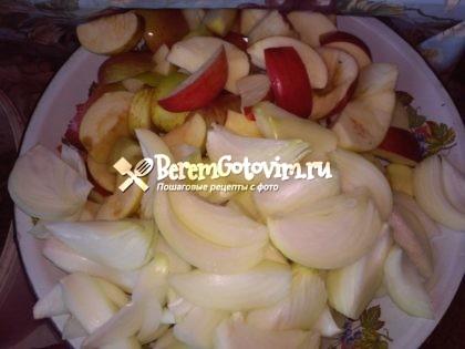 режем-яблоки-и-лук