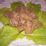 Куриная печень в сметане с луком