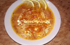 Суп харчо из курицы с приправами