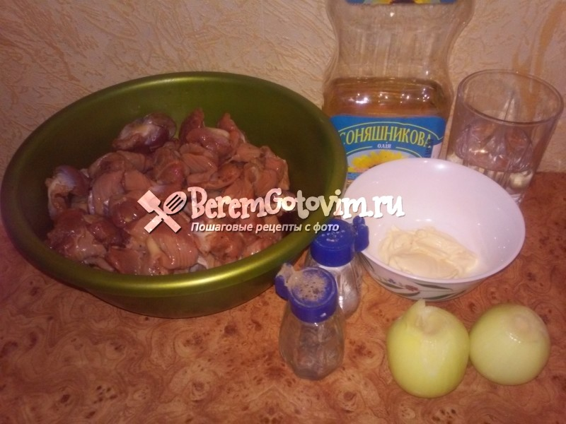 ингредиенты-для-тушеных-куриных-желудков