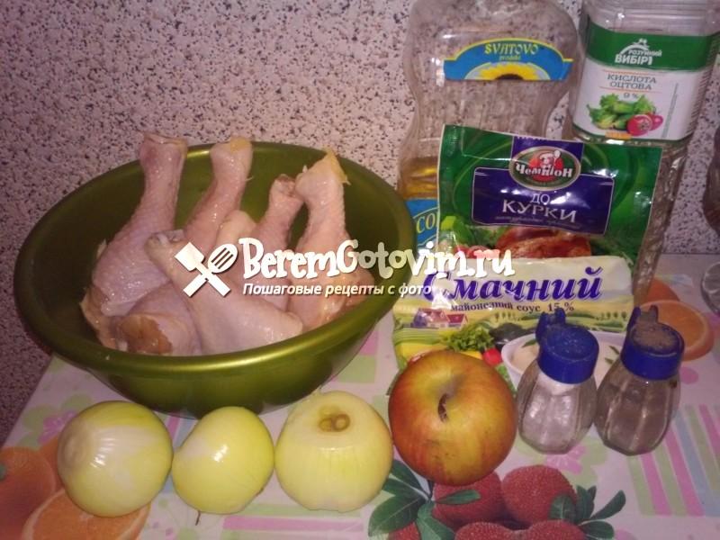 ингредиенты-для-куриных-ножек-запеченных-в-майонезе