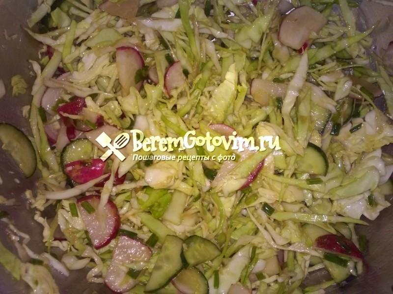 Салат из капусты с заправкой
