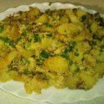 Скумбрия с картофелем под майонезом