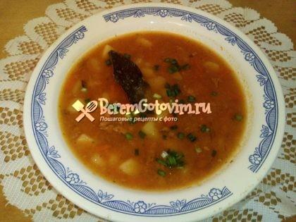 Томатный суп из бычков