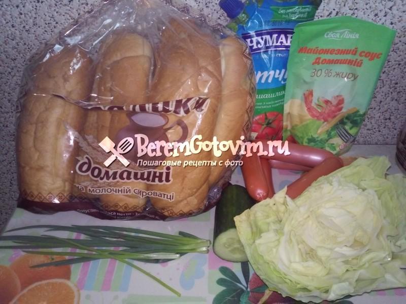 ингредиенты-для-домашнего-хот-дога-с-сосиской