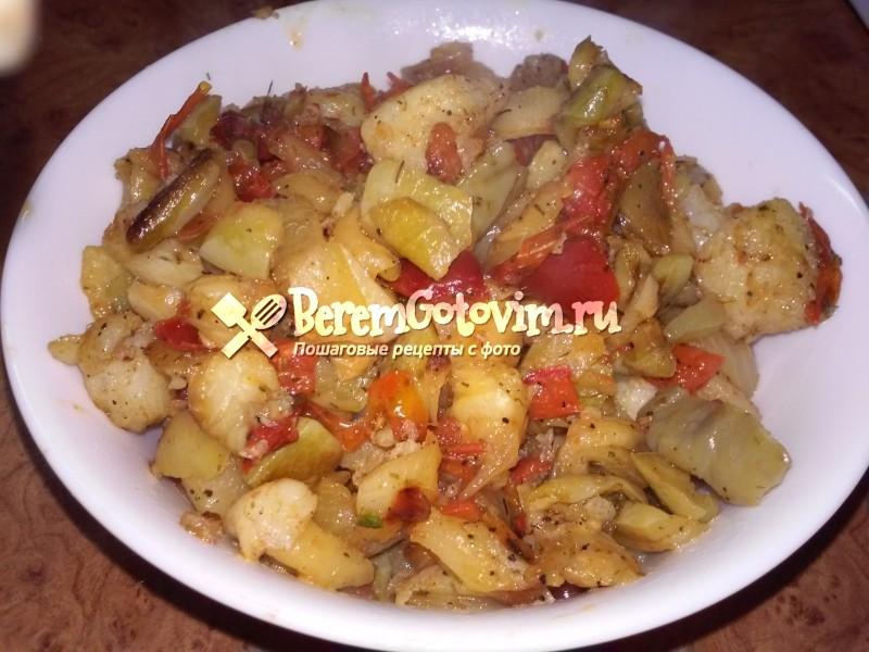 Рыбное рагу с овощами