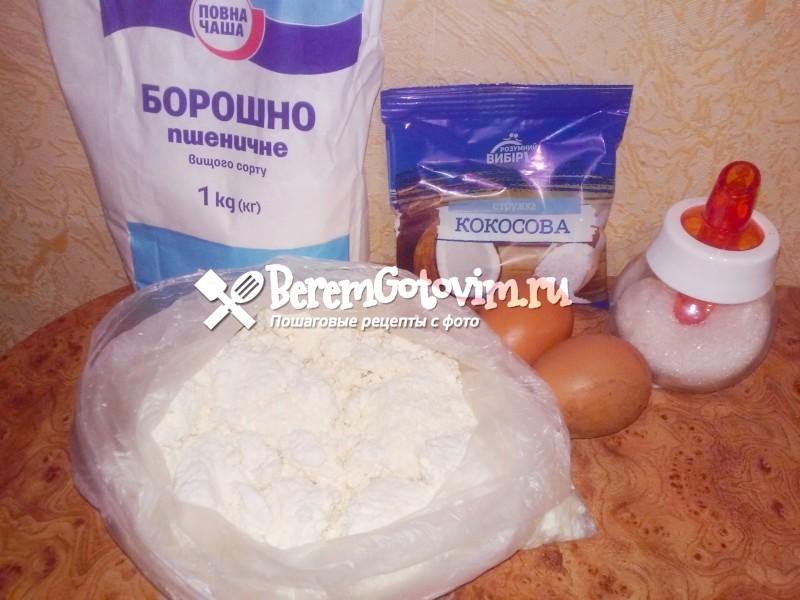 ингредиенты-для-кокосовых-сырников-на-завтрак.
