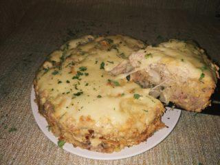 Пирог из лаваша с фаршем