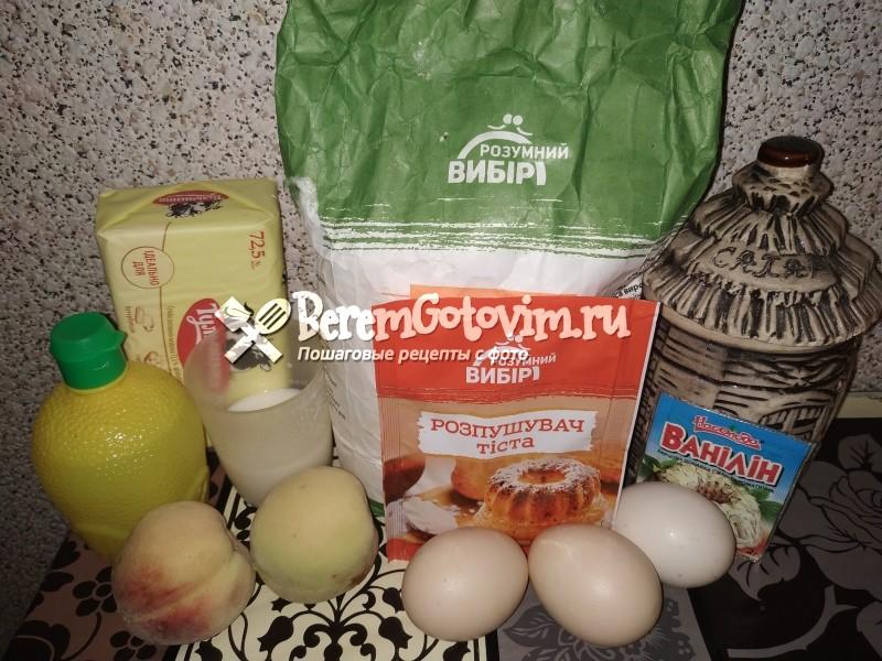 ингредиенты-для-пирога-со-свежими-персиками