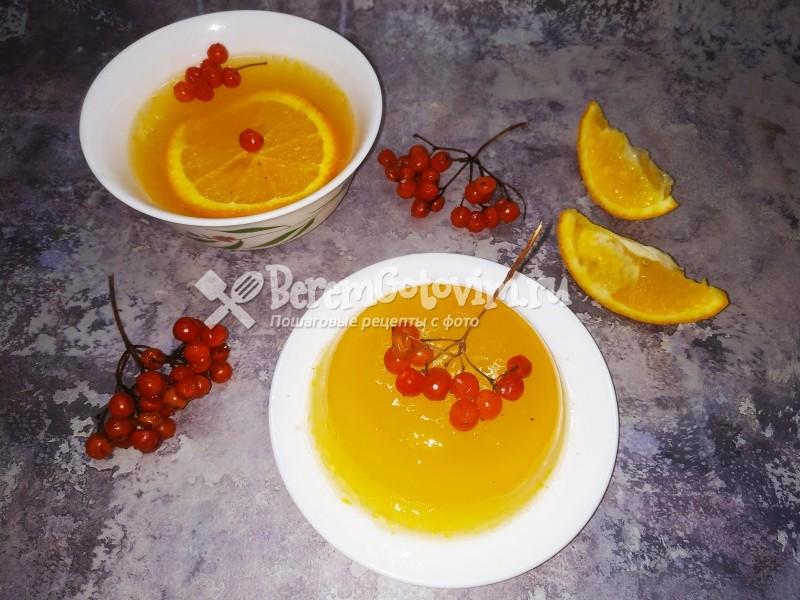 Желе из апельсинов с желатином