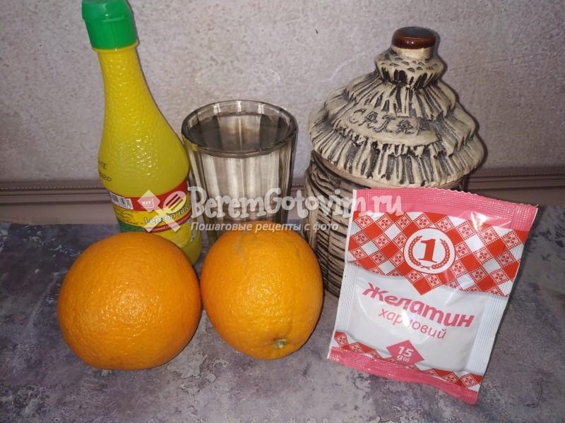 ингредиенты-для-желе-из-апельсинов-с-желатином