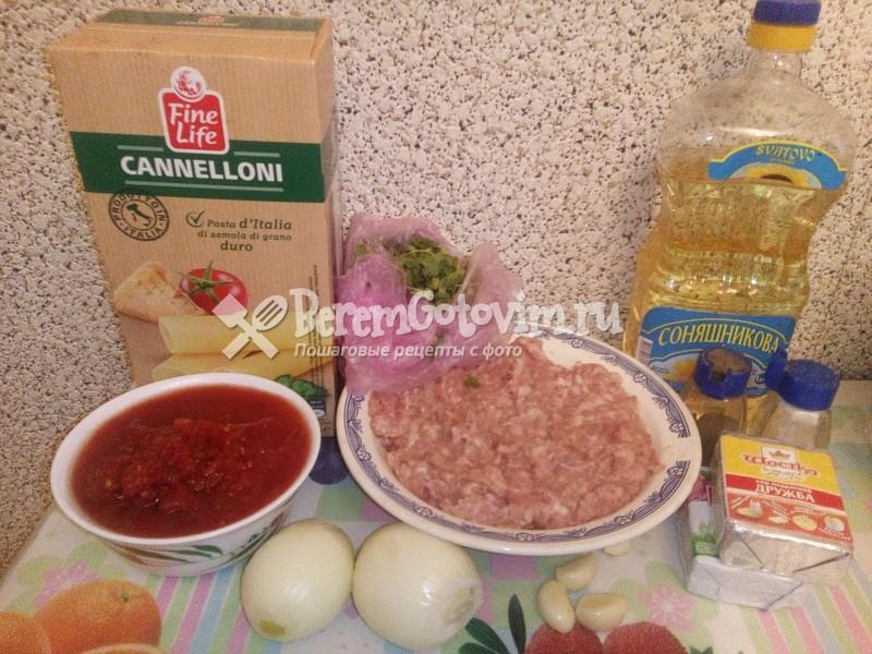 ингредиенты-для-каннелони-с-фаршем-в-томатном-соусе