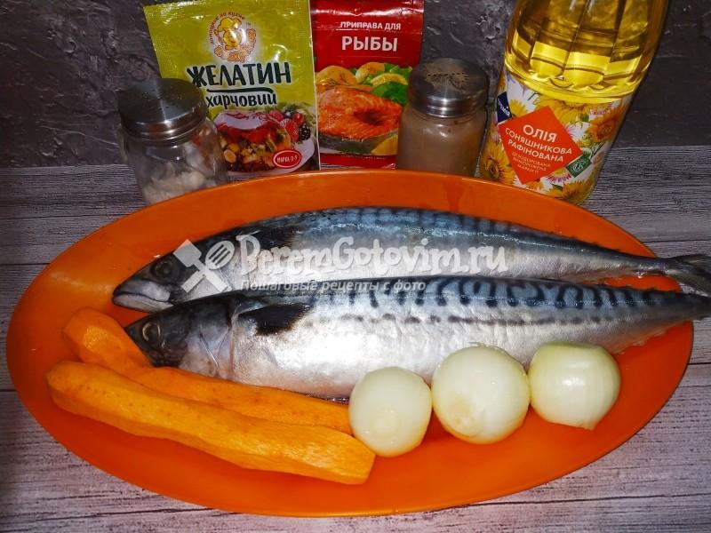 ингредиенты-для-рулета-из-скумбрии-с-желатином